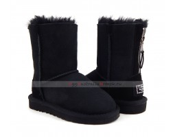 UGG KIDS ZIP BLACK