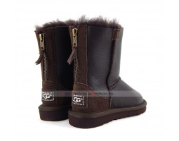 UGG KIDS ZIP METALLIC CHOCOLATE
