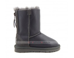 UGG KIDS ZIP METALLIC GREY