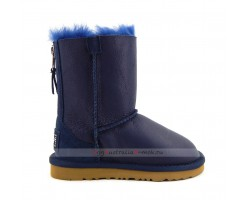 UGG KIDS ZIP METALLIC NAVY