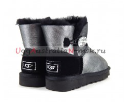 UGG MINI BAILEY BLING II GLITTER BLACK
