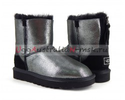 UGG MINI ZIP II CLITTER BLACK