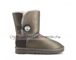 UGG SHORT BAILEY BLING II METALLIС PEWTER