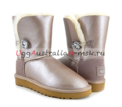 UGG SHORT BAILEY BLING II METALLIC AZURE