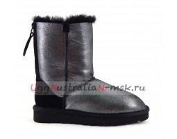 UGG SHORT ZIP II GLITTER BLACK