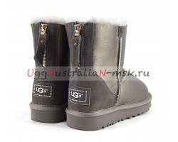 UGG ZIP MINI II METALLIC PEWTER