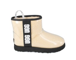 UGG CLASSIC CLEAR MINI NATURAL/BLACK