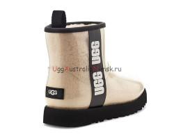 UGG CLASSIC CLEAR MINI NATURAL/BLACK