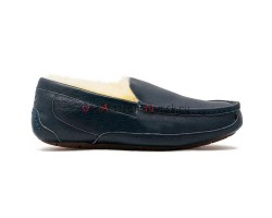 UGG MENS ASCOT LEATHER NAVY
