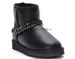 UGG CLASSIC MINI ZANOTTI METALLIC BLACK
