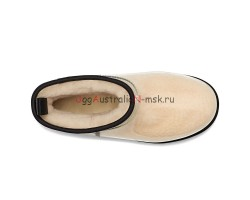 UGG KID'S CLASSIC CLEAR MINI NATURAL/BLACK