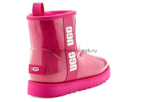 UGG KID KID'S CLASSIC CLEAR MINI ROCK ROSE